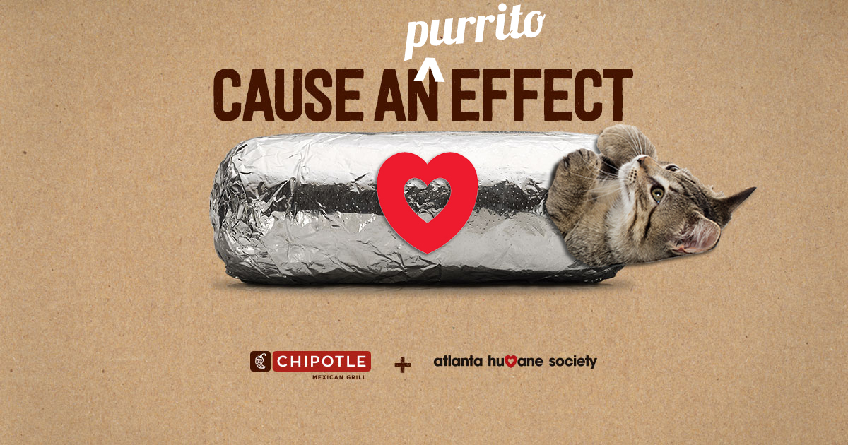 Cause a purrito effect at Chipotle