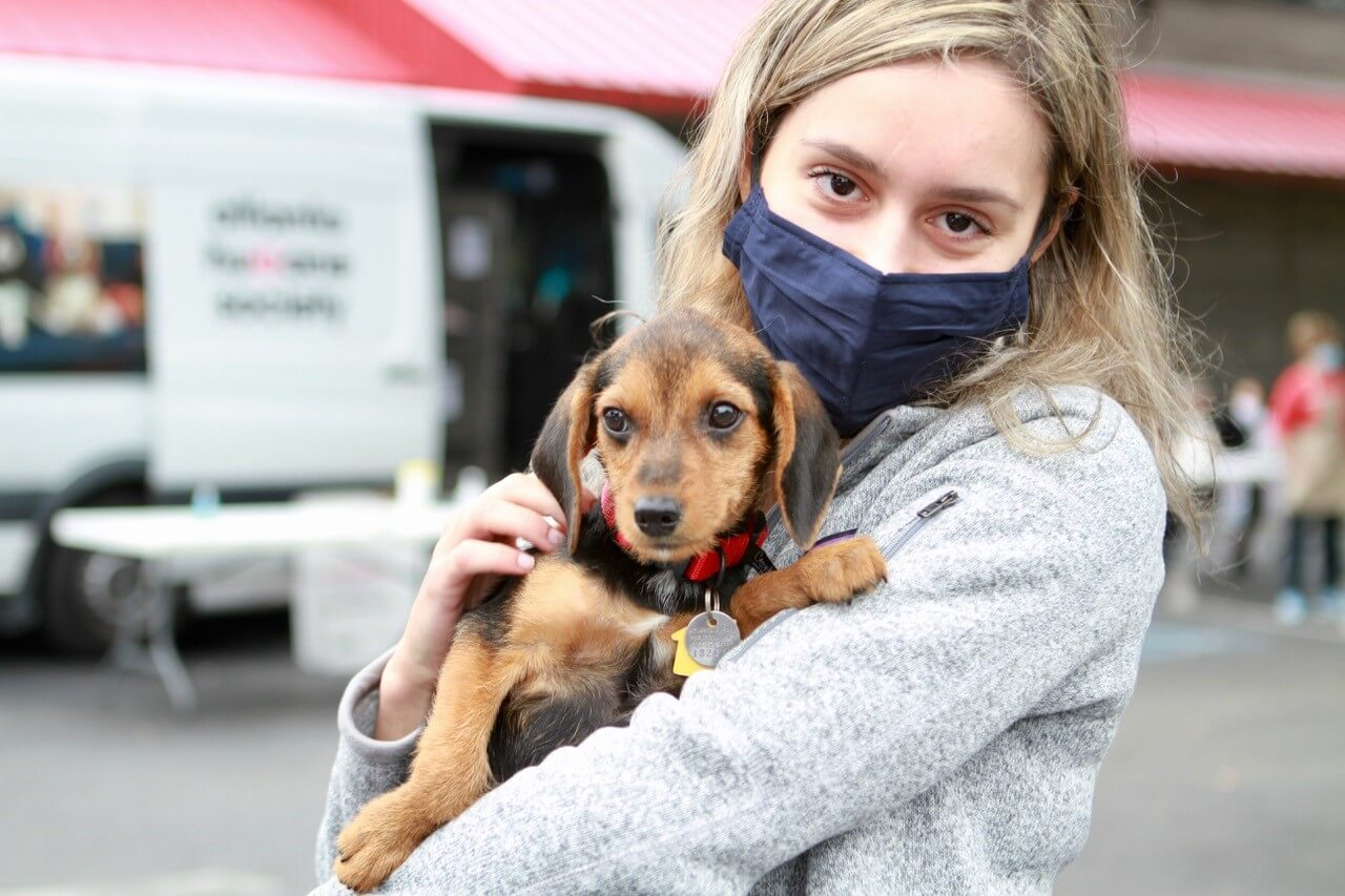 Adopter with Puppy